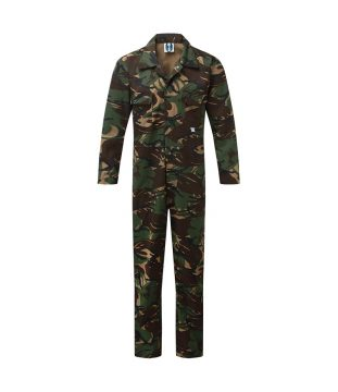 Castle Camo Stud Front Coverall