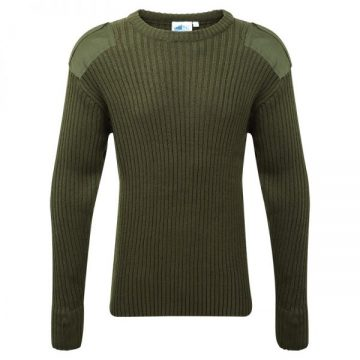 Castle Crew Neck Jumper Olive