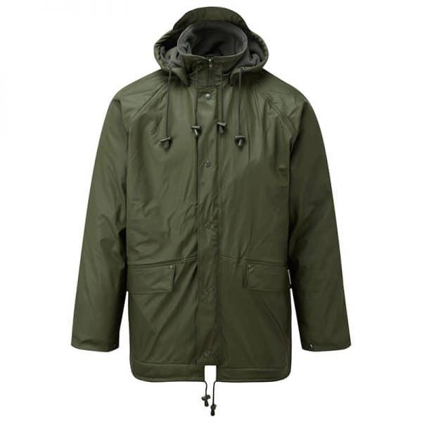 Castle Fleece Lined Waterproof Jacket Olive