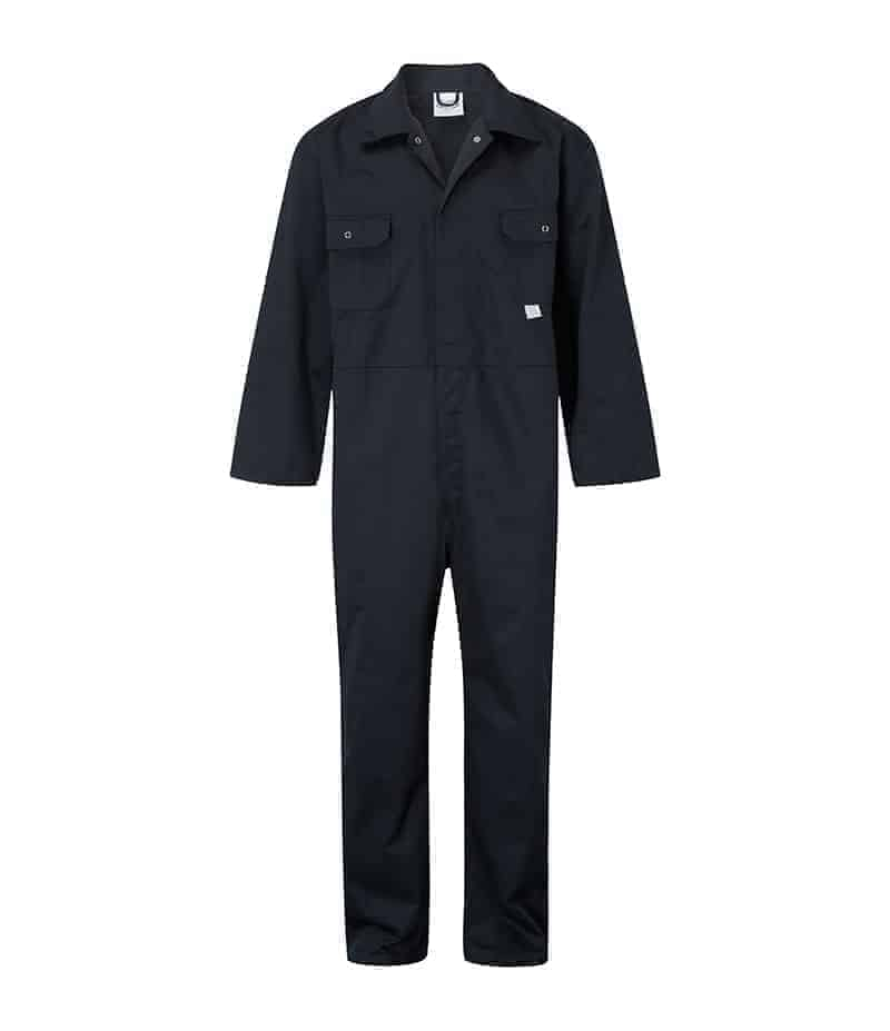 Castle Stud Front Coverall Navy