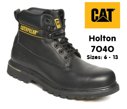 Caterpillar Holton Leather Goodyear Welted Safety Boot
