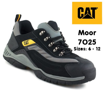 Caterpillar Moor Black/Silver Lightweight Safety Trainer