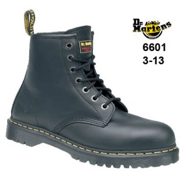 DR Martens Icon Black Smooth Leather 7 Eyelet Lace Safety Boot With SAF Sole