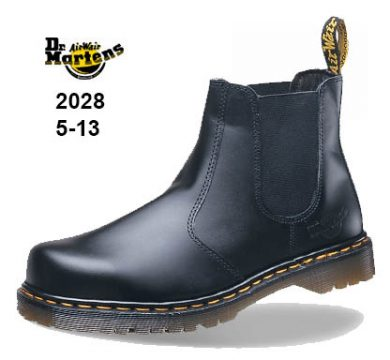 DR Martens Icon Black Smooth Leather Dealer Safety Boot With SAF Sole