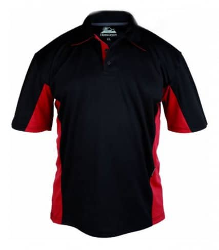 Himalayan Iconic Zephyr Polo Shirt- Black-Red