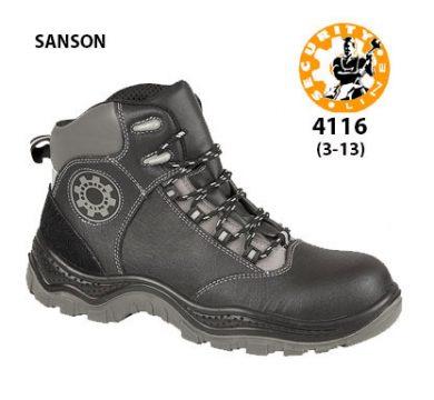 SecurityLine Sanson Black Metal Free Cap/Midsole Safety Boot